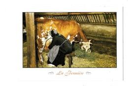 Cpm - LA FERMIÈRE - TRAITE Lait Vache - Les Métiers D'antan Edit Nivernaises MA 59 - Koeien