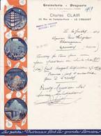 71200 Le Creusot Charles Clair Graineteries - Droguerie  Pour Hunglais à Pernay 1934 - 1900 – 1949