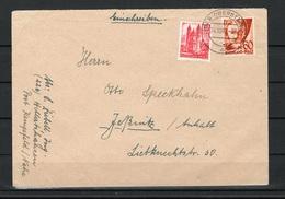 Franz Zone Brief Von Idar-Oberstein Nach Jessnitz 24.10.47 - Zone Française