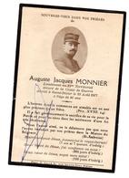 Souvenir Décès Poilu Lieutenant Monnier 21 ème Territorial - Obituary Notices