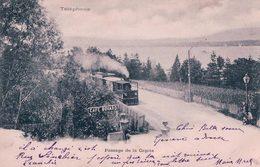 Genève, Passage De La Capite, Café Bovard, Chemin De Fer, Train à Vapeur (8.6.1903) - GE Genève