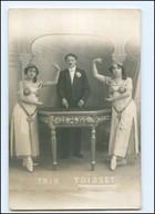 U9069/ Trio Toisset  Rückseite Widmung Foto AK 1920 Variete - Other Collections