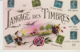 C. P. A.- LANGAGE DES TIMBRES - REX - 1806 - ESPÉREZ - A BIENTÔT - ATTENDS RÉPONSE - MILLE BAISERS - MON CŒUR EST A VOU - Post