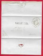 REGNO D'ITALIA - 1872 Lettera Con Testo Da VALLECORSA A AMASENO - Timbro Postale Lineare VALLECORSA E Sigillo Municipio - 1861-78 Victor Emmanuel II.