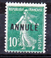 France 159-CI 1 Type Semeuse   Neuf ** TB MNH Sin Charnela Cote 15 - Cours D'Instruction