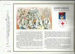 N°1296 DU CATALOGUE CEF . CROIX ROUGE . FÊTES DE FIN D'ANNEE . 16 NOVEMBRE 1996 . PARIS . - FDC