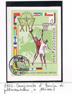 URSS -  SG  MS3204   - 1965  EUROPEAN BASKETBALL CHAMPIONSHIP (BL)   - USED° - RIF. CP - Blocchi & Fogli