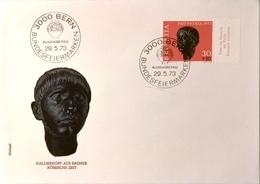 1973 FDC PP Gallierkopf Aus Bronze MiNr: 997 - Zwitserland