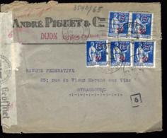 CORRESPONDANCE DE DIJON - 1941 - CENSURE - ZENSUR - CENSORSHIP - - 1932-39 Paix