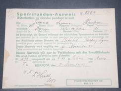 FRANCE / ALLEMAGNE - Ausweis De Besançon En 1943 - L 8515 - Documents