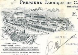 Facture 1935 / Photo Usine / 67 WASSELONNE / A PASQUAY Fabrique De Calorifuges, Tresses Et Cordes De Soie - Francia