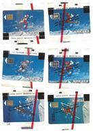 6 Télécartes 50U Jeux Olympiques D'Hiver Albertville 1992 - Neuves - Olympic Games