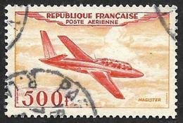 FRANCE  1954 - PA  27 - Fouga Magister - Oblitéré - Cote 16e - Aéreo