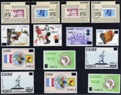 Zaire - 1420/1433 - Tranche E - Uitgifte E - 1991 - Surcharges - MNH - 1990-96: Neufs