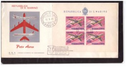 550   -  SAN MARINO 12.3.1964  /  FDC  FOGLIETTO POSTA AEREA  LIRE 1.000 - FDC