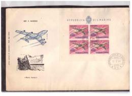 551   -  SAN MARINO 12.3.1964  /  FDC  FOGLIETTO POSTA AEREA  LIRE 1.000 - FDC