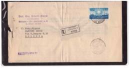 553   -  BOLOGNA  7.7.1956  /   RACCOMANDATA L.60 (ISOLATO) DECIMO ANNIVERSARIO DELLA REPUBBLICA - 6. 1946-.. Repubblica