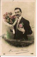 L60b144 - Heureuse Année - Jeune Homme Avec Un Beau Bouquet  - Aéro N°522 - New Year