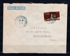 Cote Des Somalis - Lettre De 1953 Avec YV 280 Oblitérée Djbouti Avion - Lettres & Documents