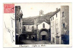 Carte Photo Eglise De Blesle - Blesle