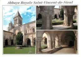 85 - Nieul Sur L'Autize - Abbaye Royale Saint Vicent De Nieul - Multivues - Voir Scans Recto-Verso - Autres Communes
