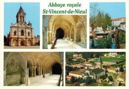 85 - Nieul Sur L'Autize - Abbaye Royale Saint Vicent De Nieul - Multivues - Carte Neuve - Voir Scans Recto-Verso - Autres Communes