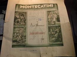 MILANO  --- SOCIETA' GENERALE PER L'INDUSTRIA MINERARIA  R CHIMICA  -- MONTECATINI  ---  DIPLOMA - Italia