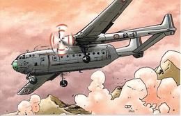 Avion Aviation NORD N.2501 NORATLAS (France) Editions:Idées + 2010 Illustrateur J.J Dzialowski MAX(Cart Com)*PRIX FIXE - Avions