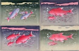 1er Avril 144, Poisson En Relief Decor X 4 - 1° Aprile (pesce Di Aprile)
