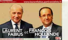POLITIQUE  L 5  / LAURENT FABIUS ET FRANCOIS HOLLANDE  CPM / CPSM    10 X 15 - People