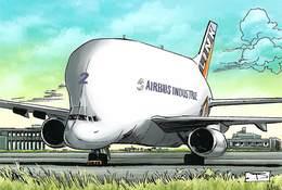 Avion Aviation AIRBUS BELUGA (Européen) Editions:Idées + 2010 Illustrateur J.J Dzialowski MAX *PRIX FIXE - Avions