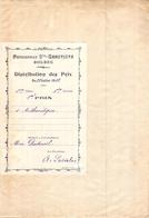 Distribution De Prix Pension Sainte Geneviève Bolbec 1912 1er Prix D'arythmétique Alice Piednoël - Diplomas Y Calificaciones Escolares