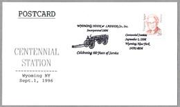 Centennial WYOMING HOOK & LADDER Co. - 100 Años Bomberos. Wyoming NY 1996 - Bombero