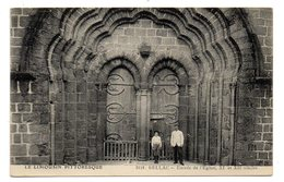 CPA      87        BELLAC    1917    ENTREE DE L EGLISE - Bellac