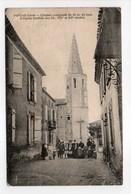 - CPA PANJAS (32) - Clocher Et Eglise 1914 (avec Personnages) - Edition Arroux - - Francia