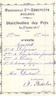 Distribution De Prix Pension Sainte Geneviève Bolbec Accessit Diligences Composition Dessin Sciences   Alice Piednoël - Diploma's En Schoolrapporten
