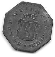 *notgeld Weilheim  5 Pfennig 1917  Zn   585.1 - Other