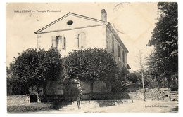 CPA      87        BALLEDENT       1912     TEMPLE PROTESTANT - Frankrijk