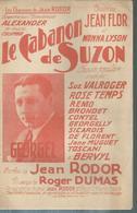 """Partition : """"  LE CABANON DE SUZON """"   JEAN FLOR / MONNA LYSON / GEORGEL / Jean RODOR / Roger DUMAS - Muziek & Instrumenten"""