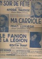 """Partition : """"  LE FANION DE LA LEGION """"   EDITH PIAF - """" UN SOIR DE FETE """" ANDRE PASDOC - Muziek & Instrumenten"""