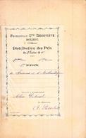 Distribution De Prix Pension Sainte Geneviève Bolbec 1er Prix De Sciences Et D'arythmétique 1910   Alice Piednoël - Diplomi E Pagelle