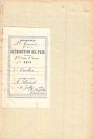 Distribution De Prix Pension Sainte Geneviève Bolbec 2er Prix De Dilligences 1909   Alice Piednoël - Diplomas Y Calificaciones Escolares