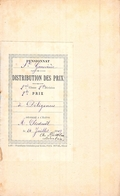 Distribution De Prix Pension Sainte Geneviève Bolbec 1er Prix De D'excellence 1909   Alice Piednoël - Diplomas Y Calificaciones Escolares
