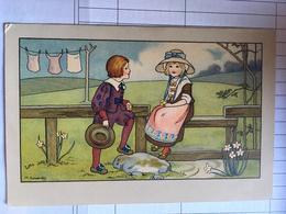 Cpa, Illustrateur, M.Sowerby,scène Champètre, Couple, N°169B, écrite, - Ilustradores & Fotógrafos