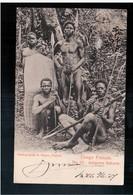 Congo Français No 11 Indigènes Bakunis  R Visser Déposé 1907  Postcard - Congo Français - Autres