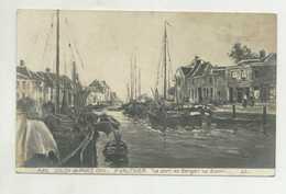 Salon De Paris 1910 - P. Vauthier, Le Port De Bergen Op Zoom  ( 2 Scans ) - Pintura & Cuadros