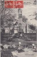 MOELAN - Eglise Saint-Philibert Et Le Calvaire - Le Lavoir Et Les Lavandières - Moëlan-sur-Mer
