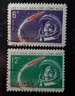 NORD VIETNAM, 1961 Série 228 / 229  Gagarin GAGARINE , 1er Cosmonaute  Dans L' Espace , Obl TB Cote 15 Euros - Espacio