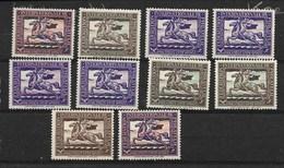 Federation Internationale De Philatelie - 1926, 10 Verschillende - Erinnofilia