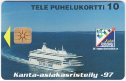 FINLAND A-888 Chip Tele - Traffic, Ferry - Used - Finlande